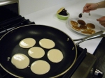 sweet pancakes for the dessert of 'dorayaki'