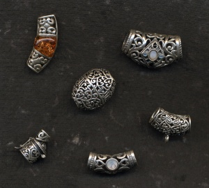silver jewelry components from Laos and Cambodia
