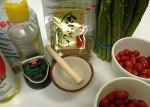 Ingredients for the 'Sesame Dressed Salad'