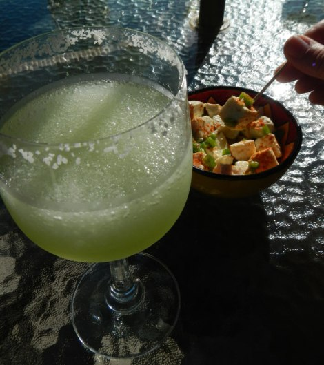 Margarita (or Mezcalito!) with Queso Fresco Appetizer