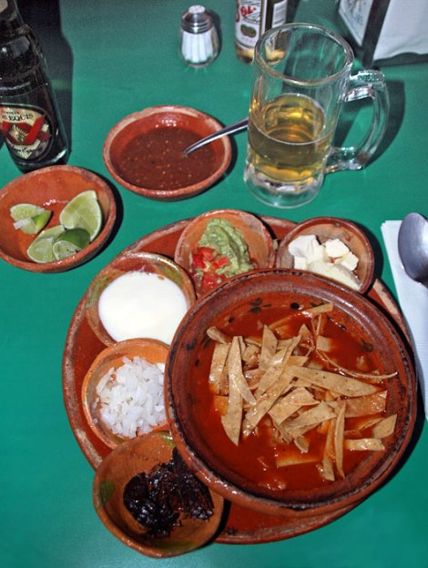tortilla soup in Guadalajara