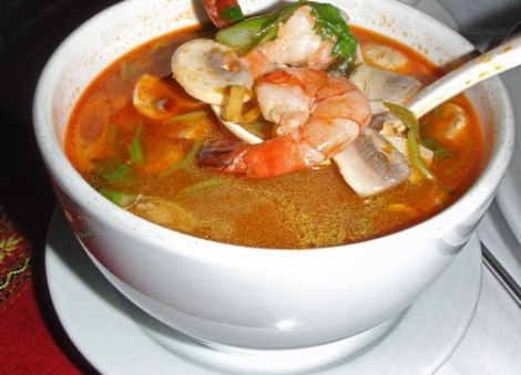 Tom Yum Goong, a spicy soup from northern Thailand