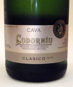 Cava Codorniu sparkling wineCava Codorniu sparkling wine