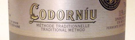 Cava Codorniu, sparkling wine from Spain