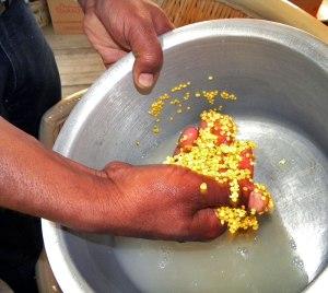 washing the gram