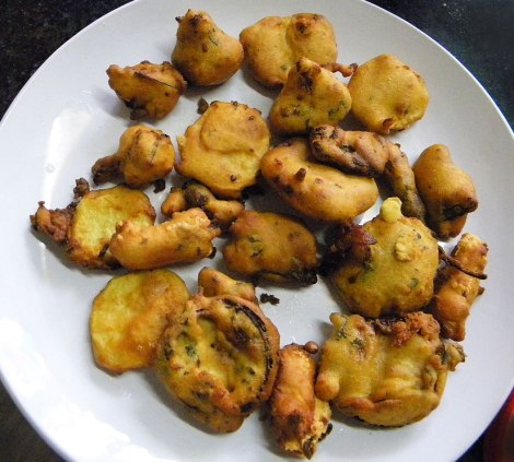 Pakora, the deep-fried treats from our Indian cooking class