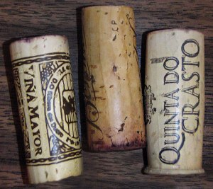 showing the different quality of corks
