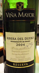 Spanish Red Wine: Ribera Del Duero Tempranillo