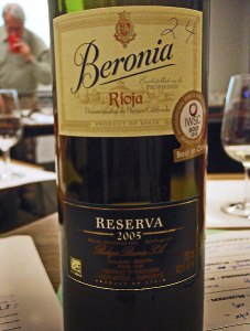 Red Wine from Rioja: Beronia