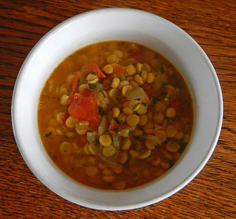 Fried daal, using chana daal