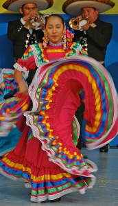 dancer with Mariachis
