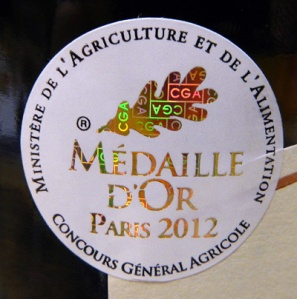 this wine won the Médaille D'Or in 2012