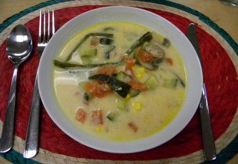 Sopa Poblano, a creamy Puebla-style soup