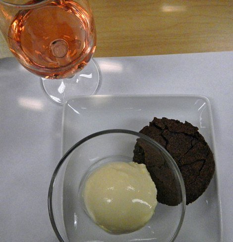Rhone Valley Rosé with Chocolate Cake and Orange Blossom Ice Cream