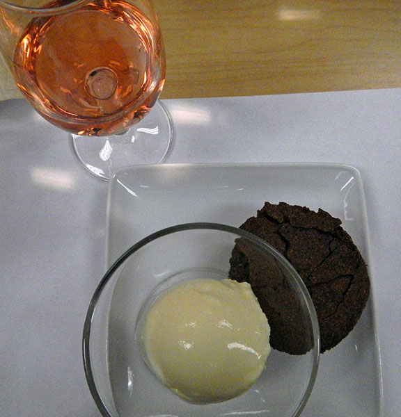Rhone Valley Rosé with Chocolate Cake and Orange Blossom Ice Cream
