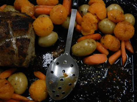 Pork Roast with Mandarins