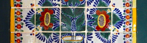 Talavera Tile Mural from Puebla