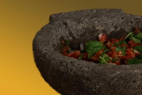salsa cruda in a mocaljete