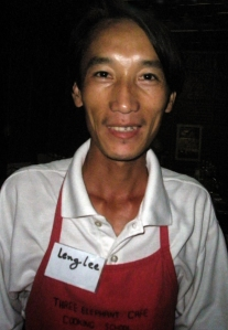 Leng Lee, our cooking instructor at the Three Elephants Café