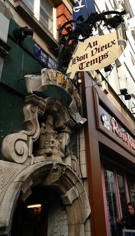 Au Bon Vieux Temps Pub in Brussels, Belgium