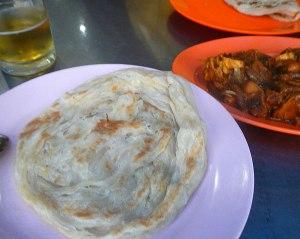Roti canai with dinner