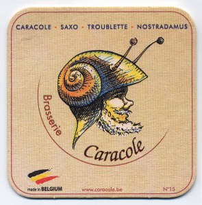 a Caracole beer coaster
