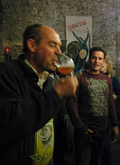 Our Tour Guide Demonstrates How to Drink Caracole Beer
