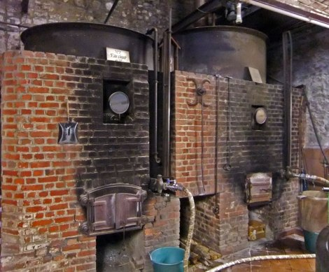 the wood furnaces that are still used to brew the Caracols delicious beer