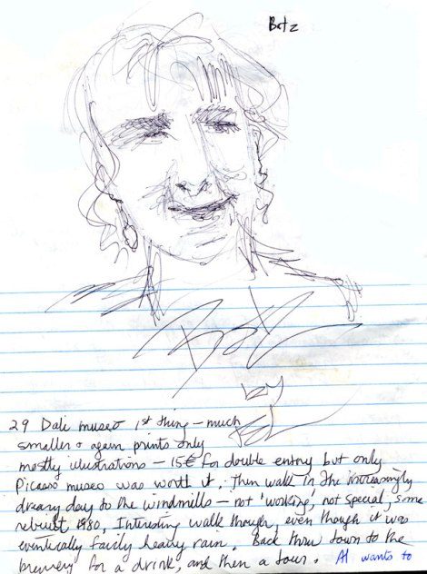 Belgium journal - sketches in the pub