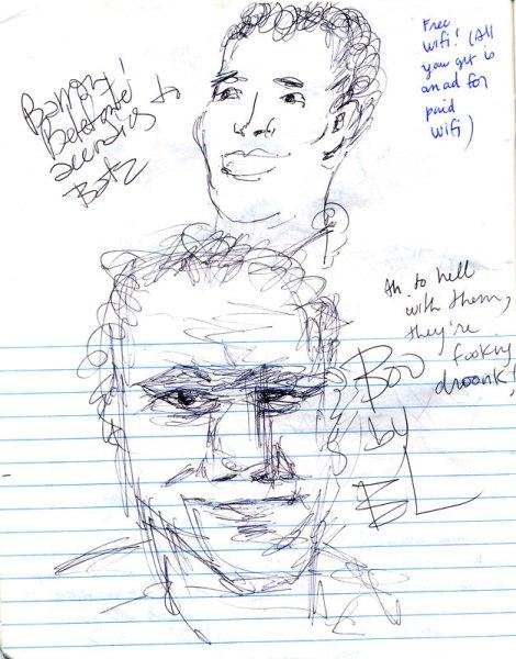 Belgian journal: sketching in the bar