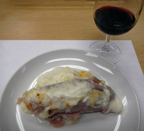 endives wrapped in ham in a bechamel sauce