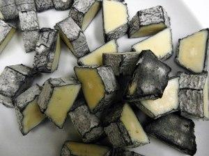 ash-covered Sainte Maure du Touraine Goat Cheese