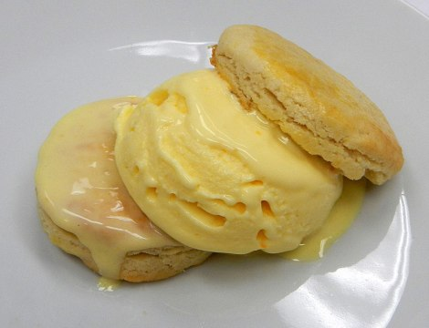 Sables with Cointreau Ice Cream