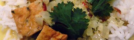 Cambodia coconut curry with tofu