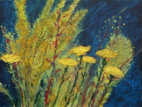 yellow weeds painting