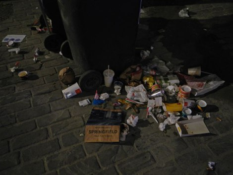 my garbage at night in Ghent photo