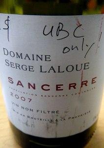 Serge Laloue Sancerre Wine