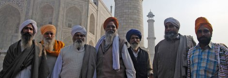 Sikhs visiting the Taj Mahal