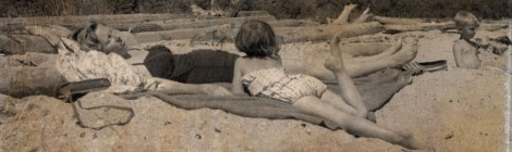 1959, me at the beach with Mom and my little brother