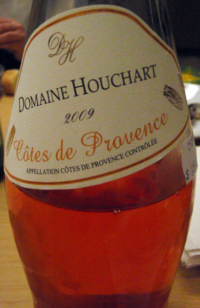 the rosé wine from Provence that Chef Eric chose to go with the Boullabaise
