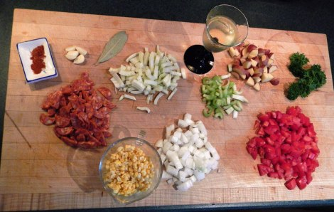 chorizo soup ingredients chopped