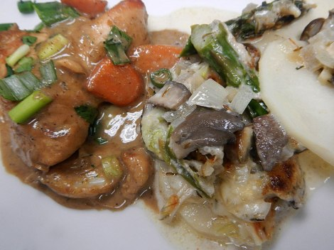 a tasty French version of Chicken Stew & Scalloped Potatoes