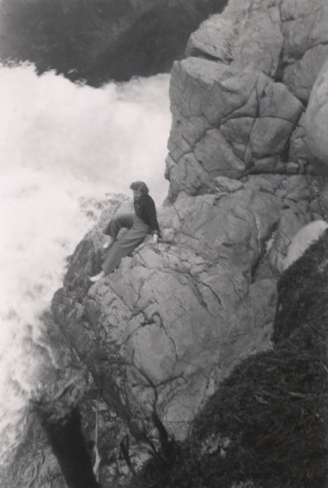 mom at Lynn Canyon c.1952