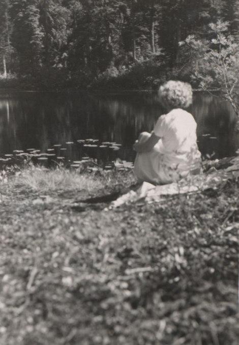 mom by a North Shore lake