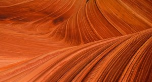 the red sandstone formations at the Wave in Utah