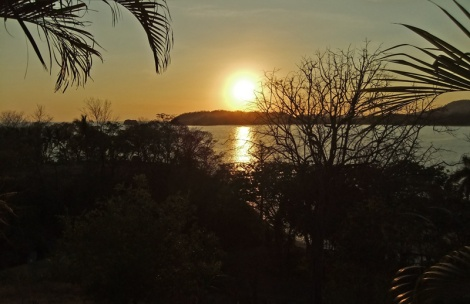 Sunset view of Carillo Beach in Costa Rica