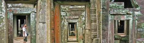 Angkor Wat endless doorways