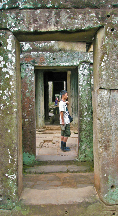 endless doorways at Angkor Wat