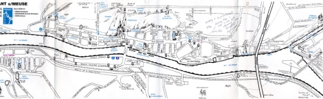 the map of Dinant from the Tourist Office