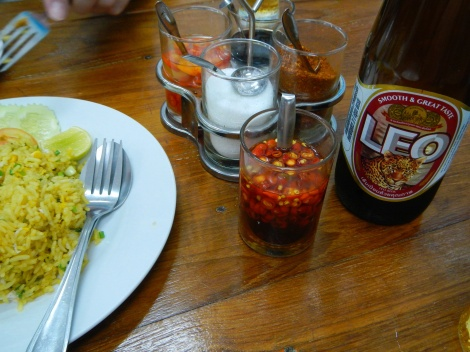 Leo Beer helps cool the spicy stuff